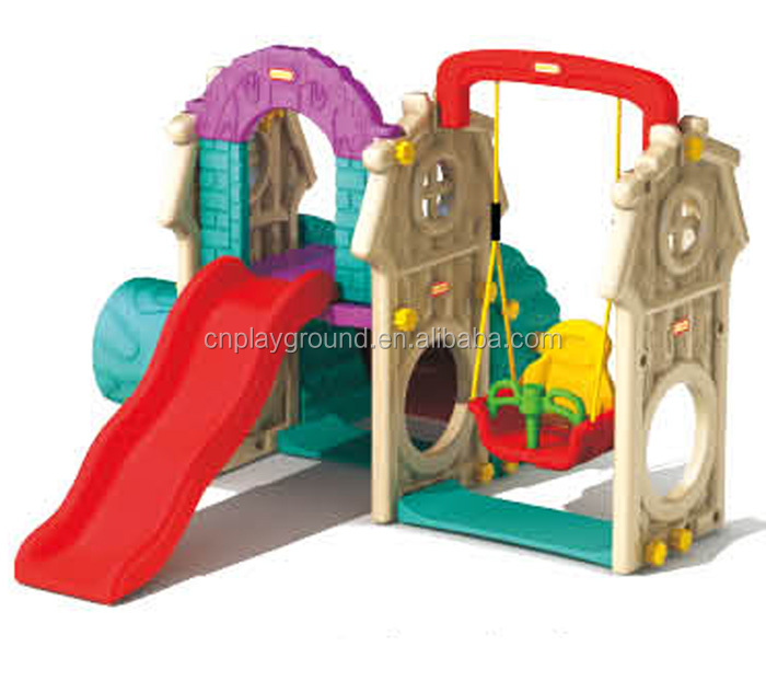 Hot Popular Sale Combination Indoor Plastic Slide And Swing slide indoor kids toys supplier in malaysia (A-19304)