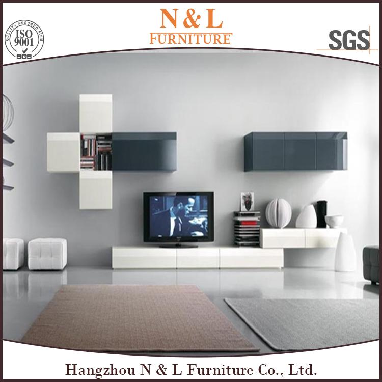 Design moderne salon meuble tv meubles plat tv unit s for Murales salon modernos