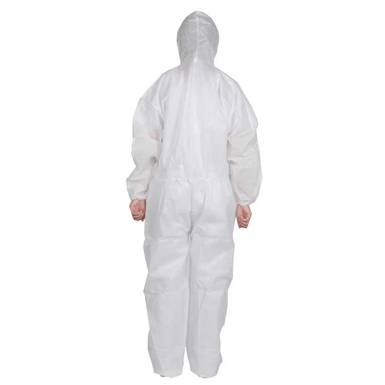Healthy Microporous Disposable Hooded pe shoe coverall With Shoe Cover - KingCare | KingCare.net