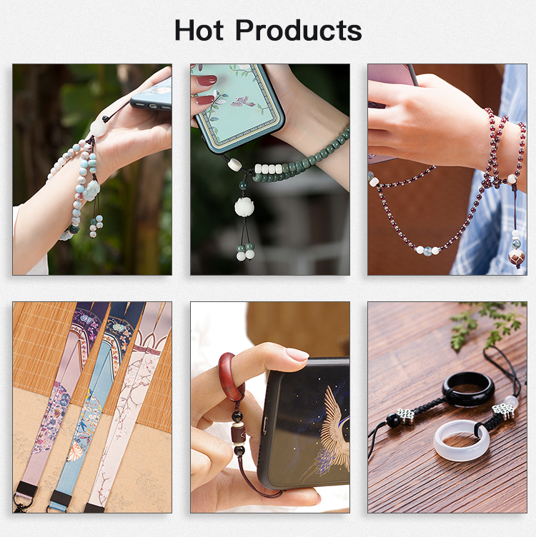 Fashion mobile phone accessories crossbody strap for phone , latest design beads necklace mobile phone chain strap beads