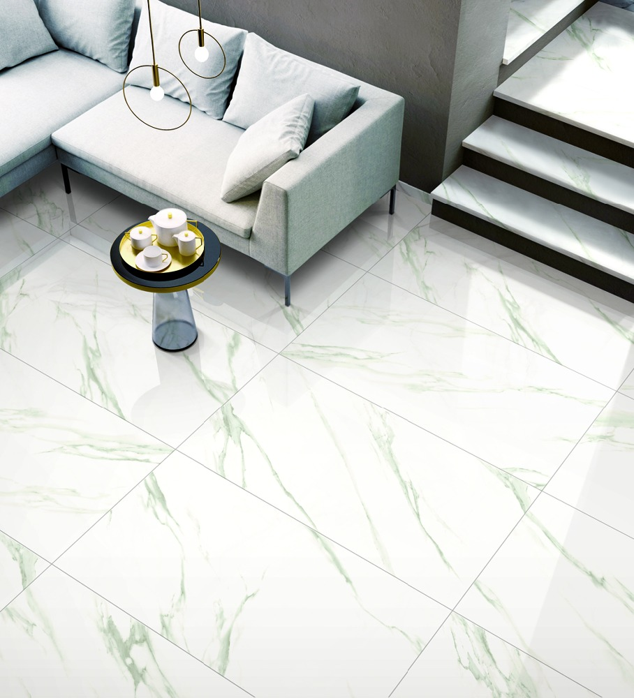 Carrara White Ceramic Floor Tile