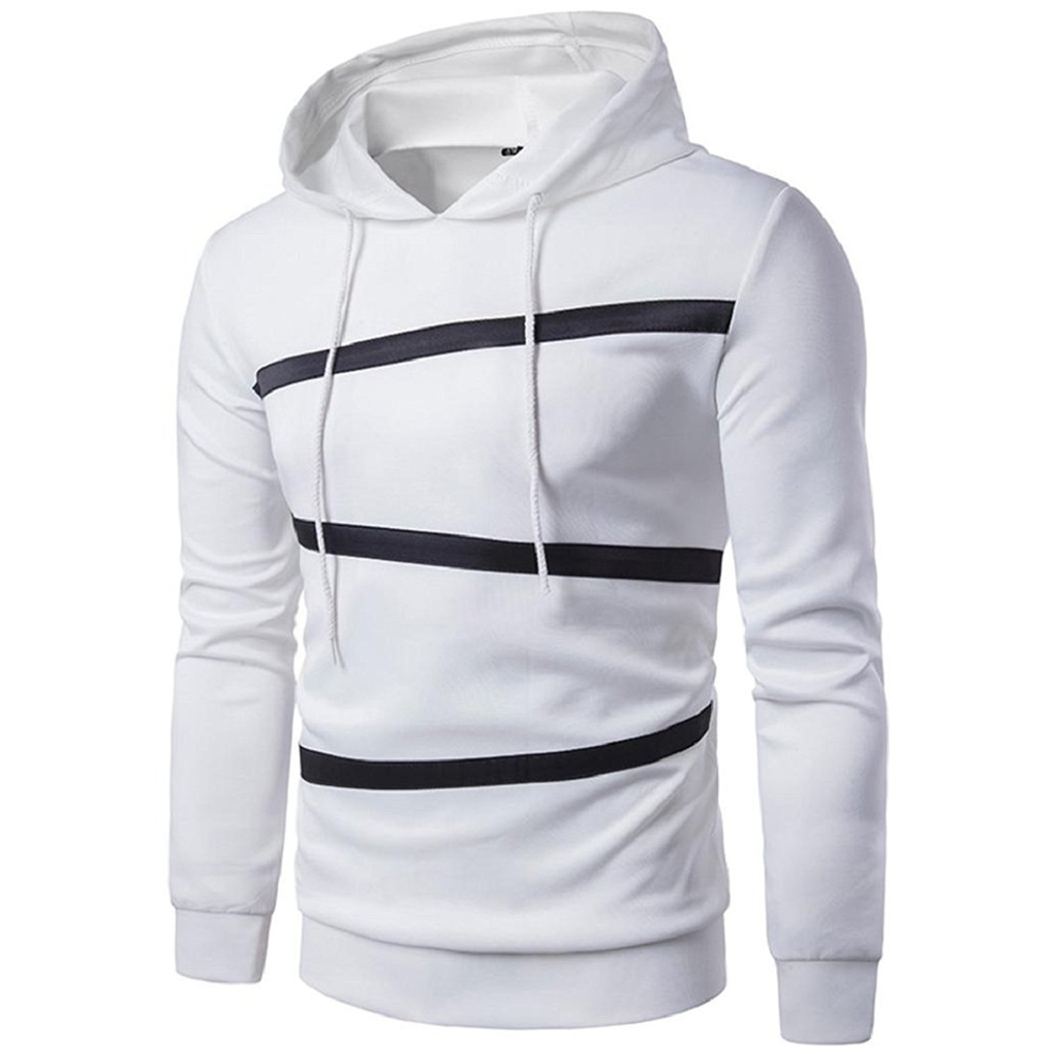 6c46c6e772f05 Get Quotations · GONKOMA Men's Long Sleeve Hoodie Autumn Winter Jacket Coat  Outwear Mens' Fashion Solid Color Hoodie