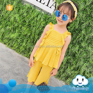 SS-956G 2017 fashion european kids clothes wholesale China girls boutique clothing sets unique baby girl clothing
