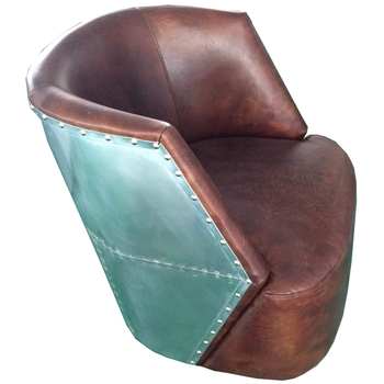 armchair leather product tinker chesterfield toad and aviator vintage brown pu chair