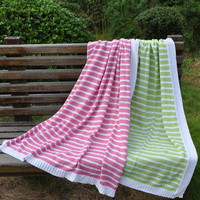 Stripe cotton baby blanket