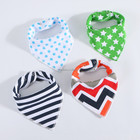 Hot Sales High Quality Triangle 100% Organic Cotton Bandana Baby Bib