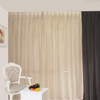 100% Polyester Drapes And Elegant Curtain Black And Beige Curtains Middle East Style Curtain Fabric Sheer