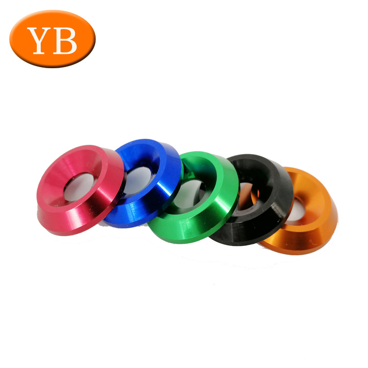 OEM Special Anodized Aluminum Flat Washer By Factory