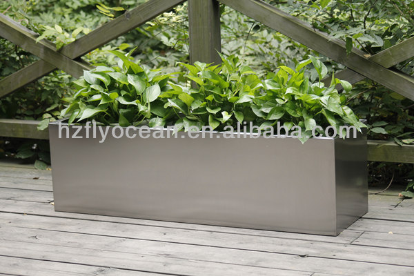 Rectangle Large Stainless Steel Flower Container /Planter Trough FO-9016