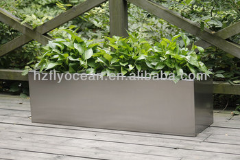 Rectangle Large Stainless Steel Flower Container Planter Trough Fo