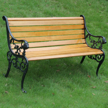 Bon Classic Cast Iron Garden Benches Lion Head