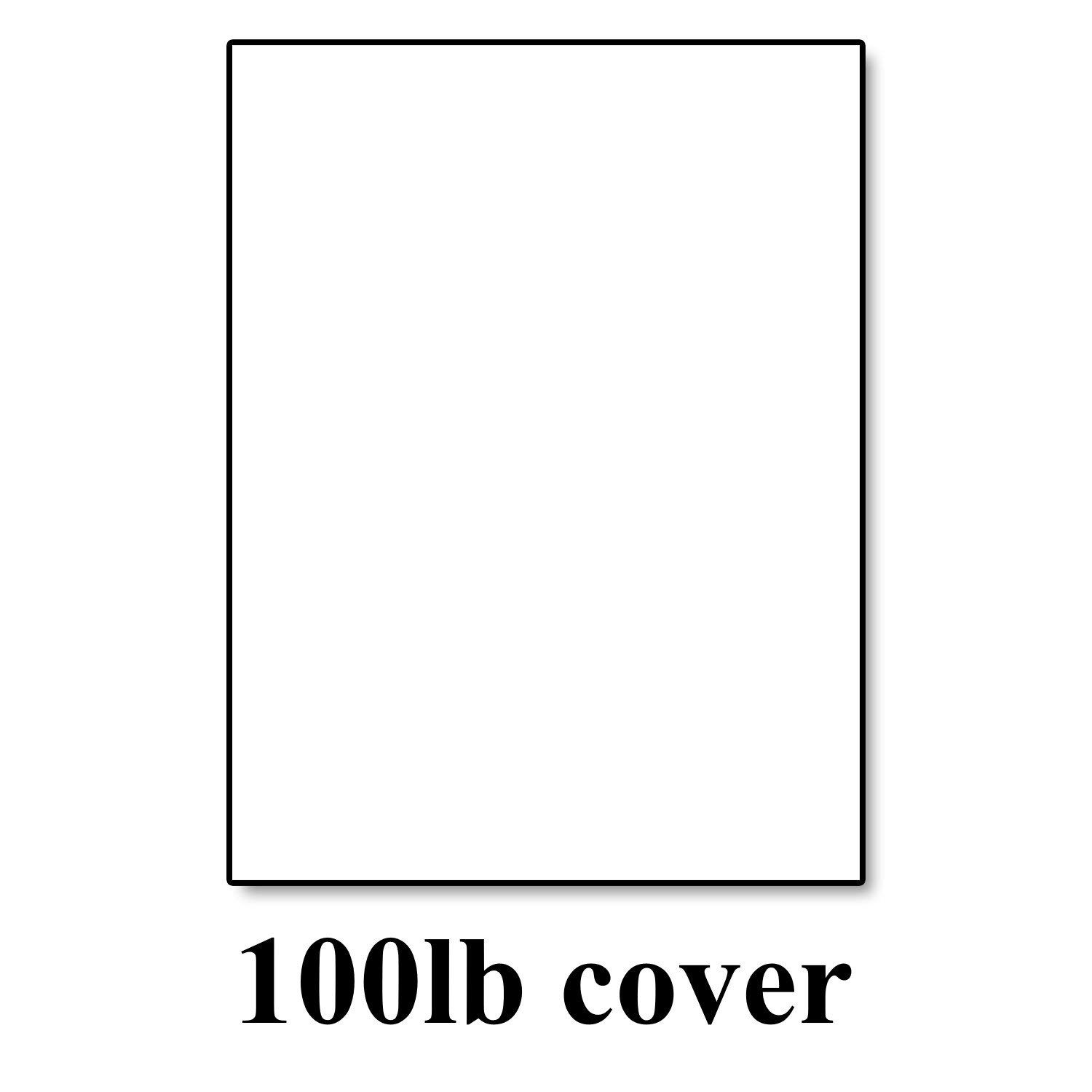 "Hamilco White Cardstock Thick Paper - 8 1/2 x 11"" Blank Heavy Weight 100 lb Cover Card Stock - for Brochure Award and Stationery Printing (50 Pack)"