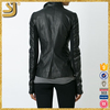 Hot selling cheap motorbike jacket, natural black fur jacket