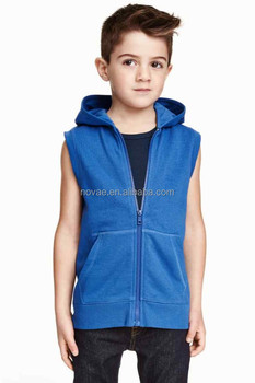 7--10 Years Old Boys Children Clothing Blank Sleeveless Hoodies ...