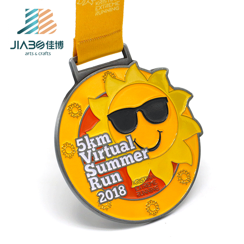 Professional Season Finish No Plastic Medal With Custom Logo And Ribbon -  Buy Finish Medals,No Plastic Medal,Medal With Custom Logo Product on