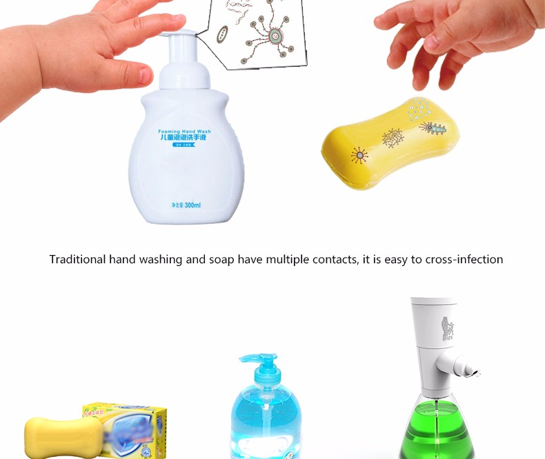 Touchless sensor liquid automatic soap dispenser in bathroom kitchen