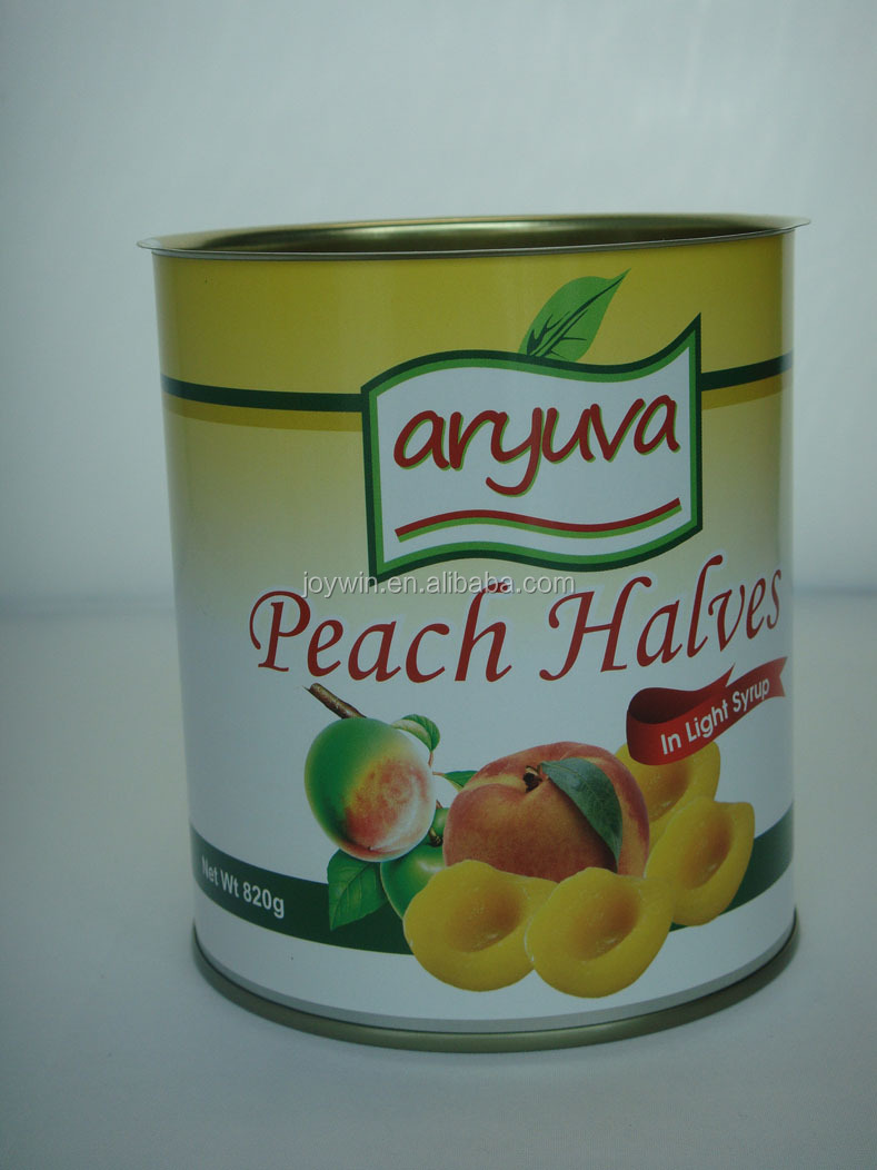 canned yellow peach halves fruit in light syrup Manufacturer fresh new crop