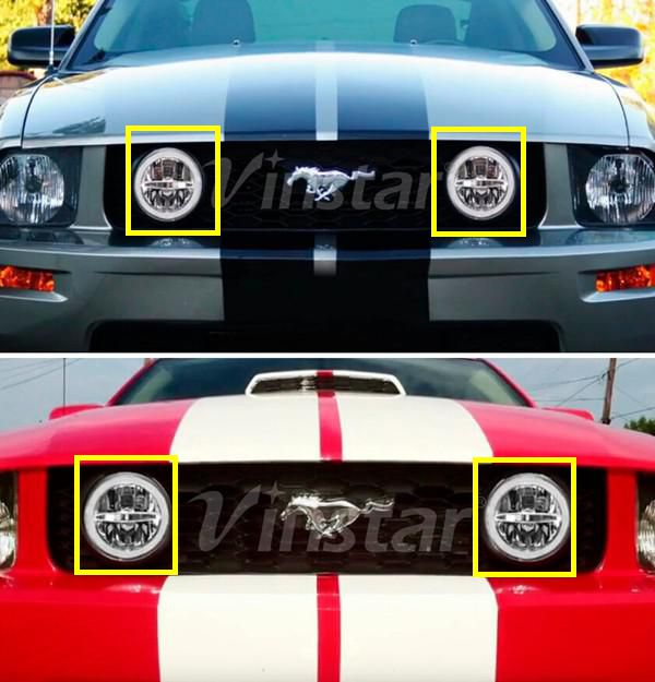 All in One LED Fog Lamp For Mustang GT LED DRL Running Light For Mustang LED headlight For Mustang