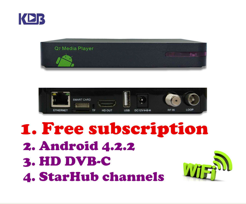 Free shipping hd q5 pvr cable receiver box watch Singapore starhub