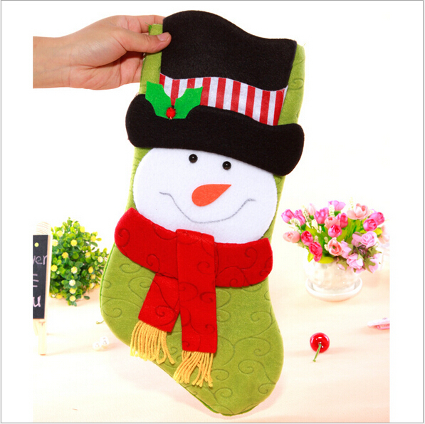 cheap christmas socks bag home decoration supplies gift christmas stocking ornament 2015 new year holiday baubles items products