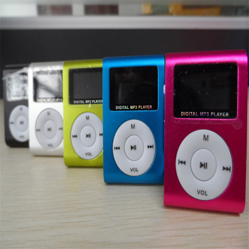 Hot mp3 <strong>player</strong> with 1GB Memory FM card LCD screen metal clip card gift video mini mp3 <strong>player</strong> with clip