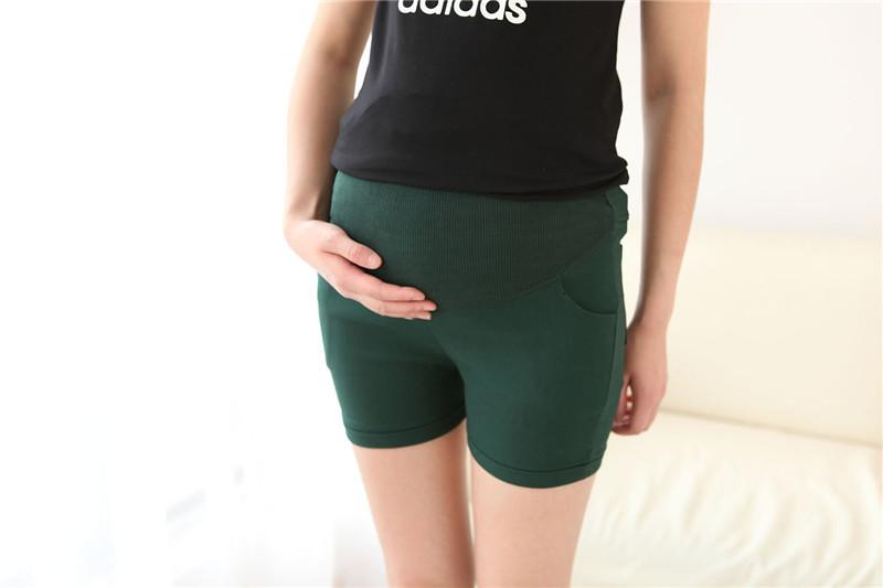 Шорты сплошной цвет с высокой талией джинсы беременным брюки женские джинсовые одежда для беременных беременность одежда беременных