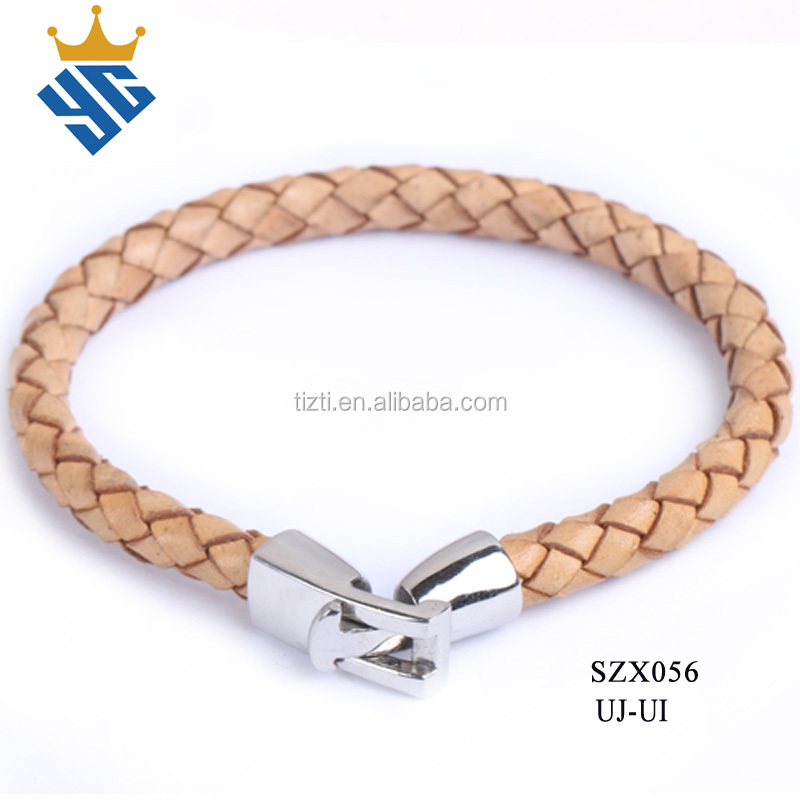 Fashion Jewelry Simple Design Handmade Leather Bracelet