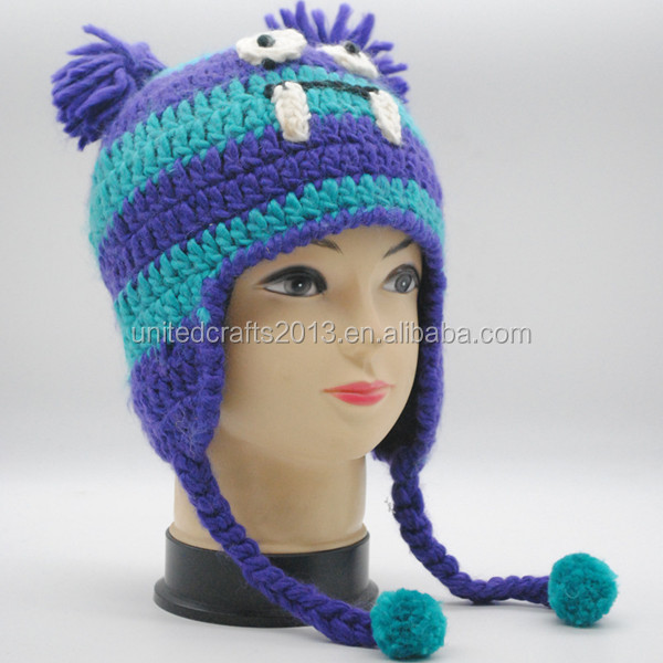 Kids Hand Knitted Woolen Caps Hip-hop Style Sea Dog Modelling Hat ... ccc2dafbdd1