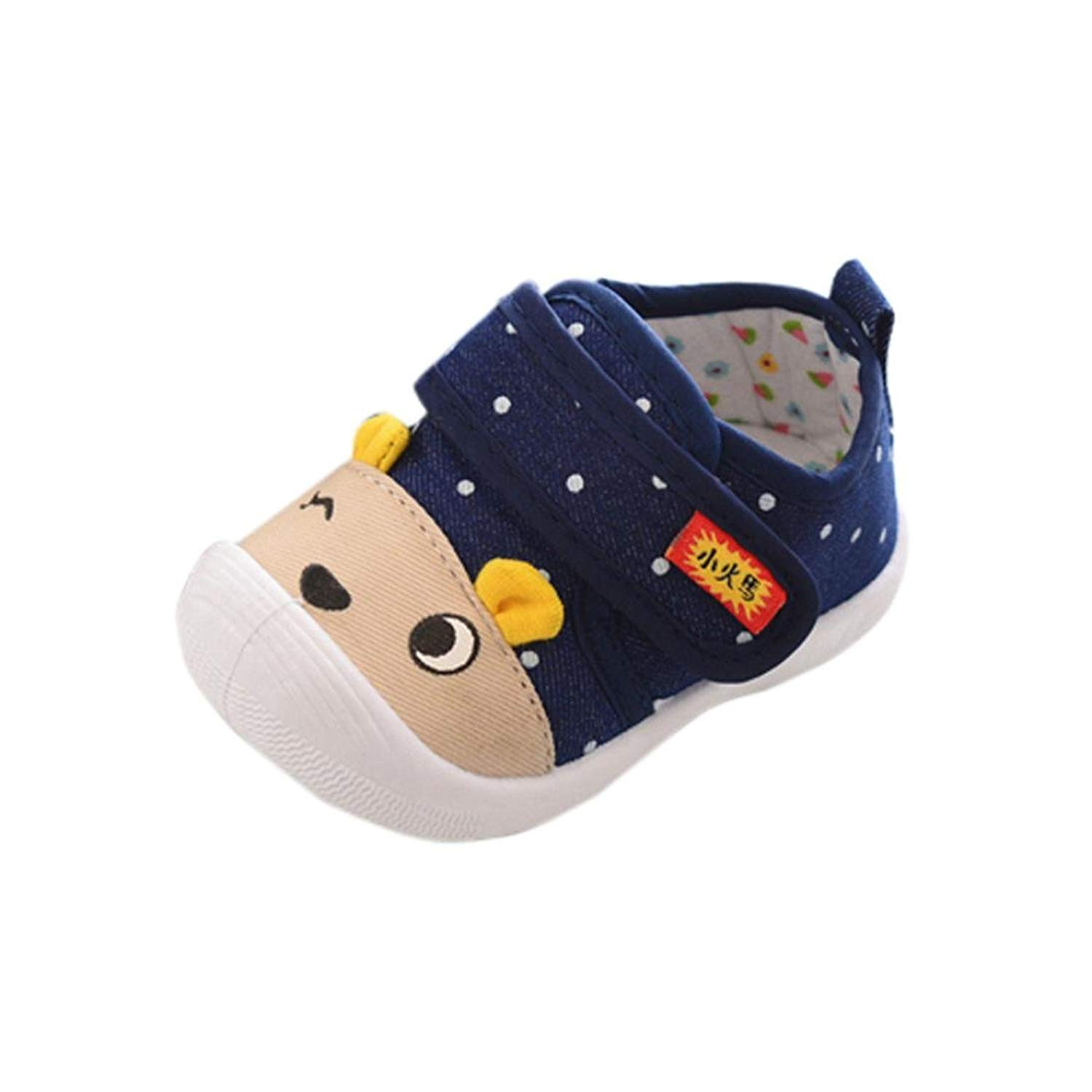 Dainzuy Infant Baby Boys Girls Cartoon Animal Print Squeaky Sandals Shoes Sneakers