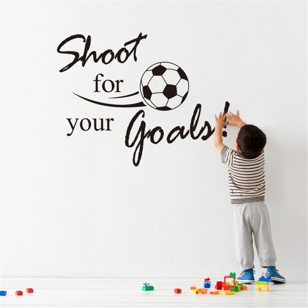 ZN Shoot for Your Goals Football Fighting Home Decor Removable Wall Sticker