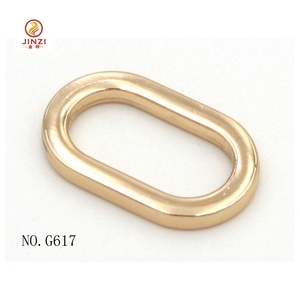 2018 new fashion metal oval shape buckle O ring for leather bag strap handbag hardware