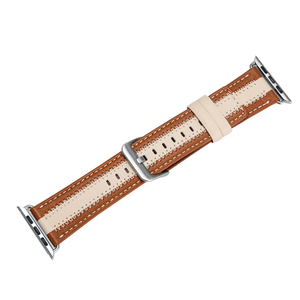 Genuine Leather color matching with stylish sewing strap for Apple Watch Band