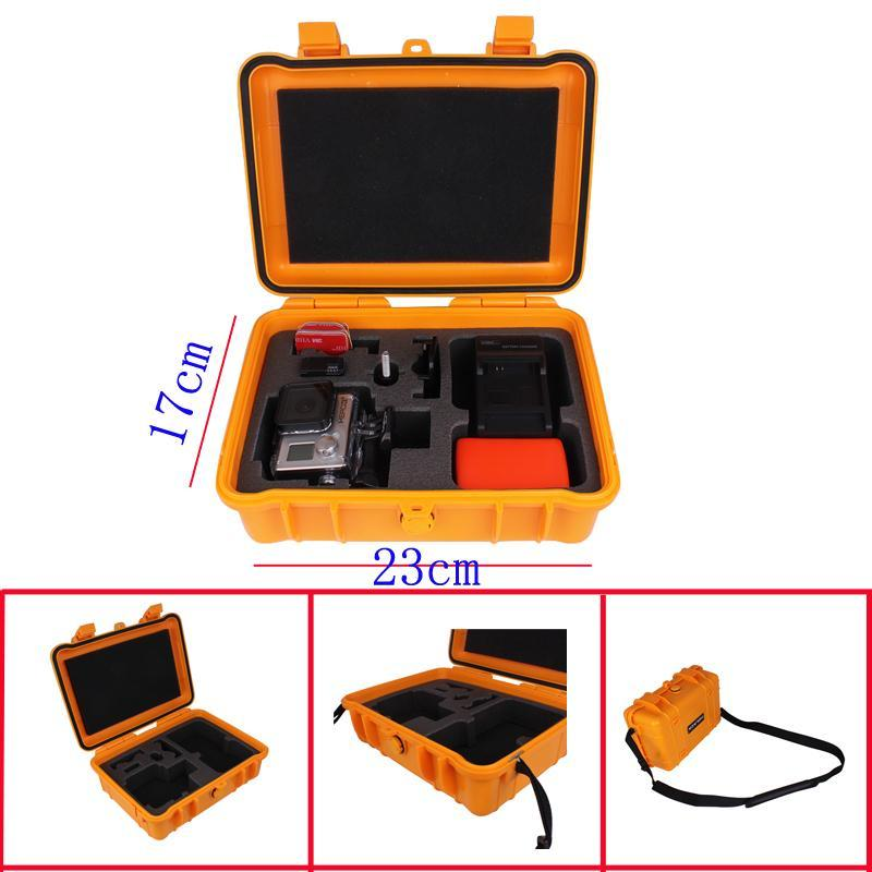 Orange Gopro Case Hero3 Waterproof Bag+Shoulder Strap For Gopro Hero3+ Hero2 Go