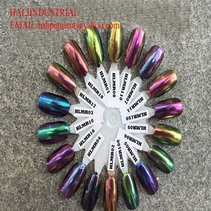 acrylic nail powder colors with mirror effect chameleon pigment,chrome  powder, item:HLMR01   17,