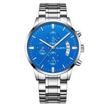 Прямая поставка, мужские часы, Топ бренд, роскошные часы с хронографом, мужские кварцевые Стальные часы, 2020, черные мужские часы, Relogio Masculino(Китай)