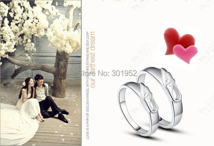 CRJZ0007 925 Sterling Silver Rings for lovers Wedding Engagement lovers' ring Wholesale Jewelry anel aneis