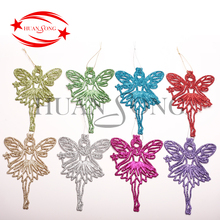 Outdoor Christmas Decoration wholesale Supplies Gifts Colorful Plastic powder cheap Hanging Christmas angel ornament for sale