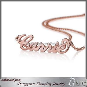 Wholesale 14 inch Rose Gold Alphabet English Letters Charm For Diy Necklace, Personalized Name Necklace - Custom Made Any Name