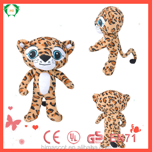 HI CE competitive plush toys,AZO/CE leopard plush toys for sale