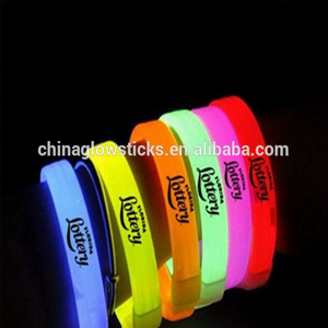 Glow sticks light bracelet christmas promotional glow wrist band bracelets