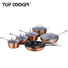 Forged aluminum copper non stick coating cookware set