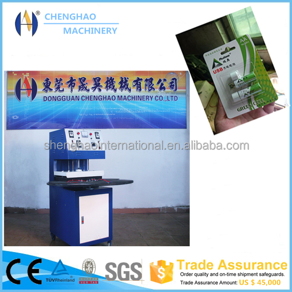 2016 best selling Rotary type blister sealing machine for scourer ball