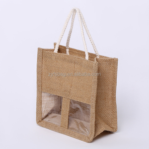 Small size tote style waterproof jute wine bag as gifts