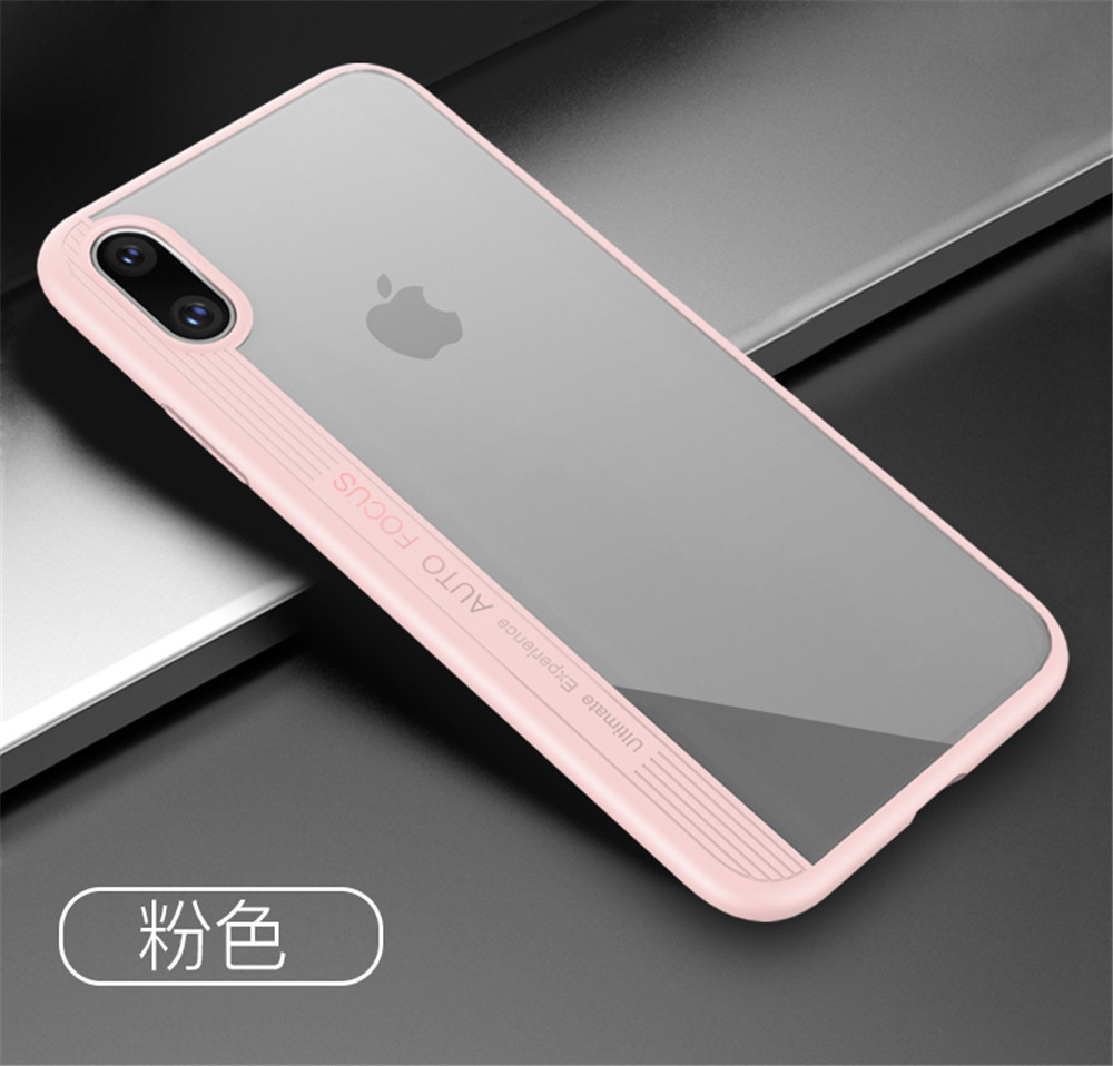 Hotsell Ultra-thin Clear Back Acrylic Shell and Silicone Bumper 2 in 1 Fashion Design Phone Case for iPhone X