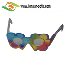 Paper diffraction glasses, custom printing 3d fireworks glasses heart shaped