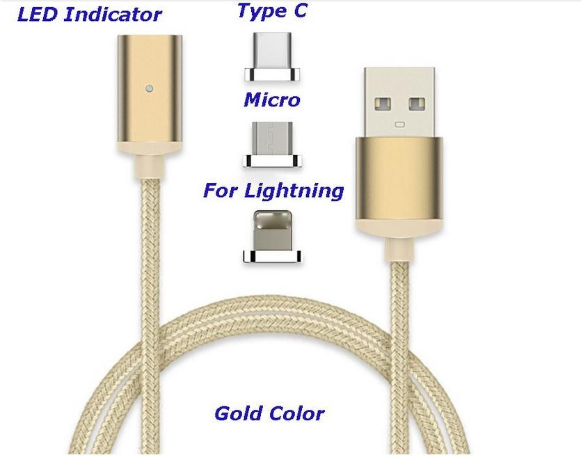 2017 Usb cable factory magnetic charging micro data cable in USB for iphone