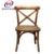 Cross back dining iron chair