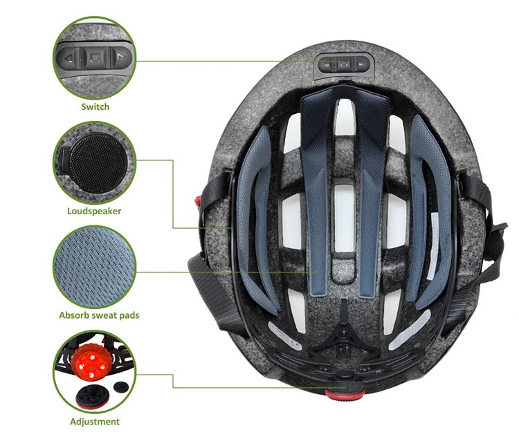 Manufacturer Direct 2018 Newest Bluetooth Bike Helmet 9