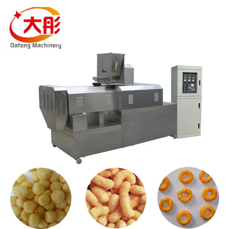 자동 치즈 퍼프 옥수수 스낵 식품 기계 장비 라인 ce