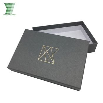 Wholesale gray lid and base packaging box apparel boxes custom logo